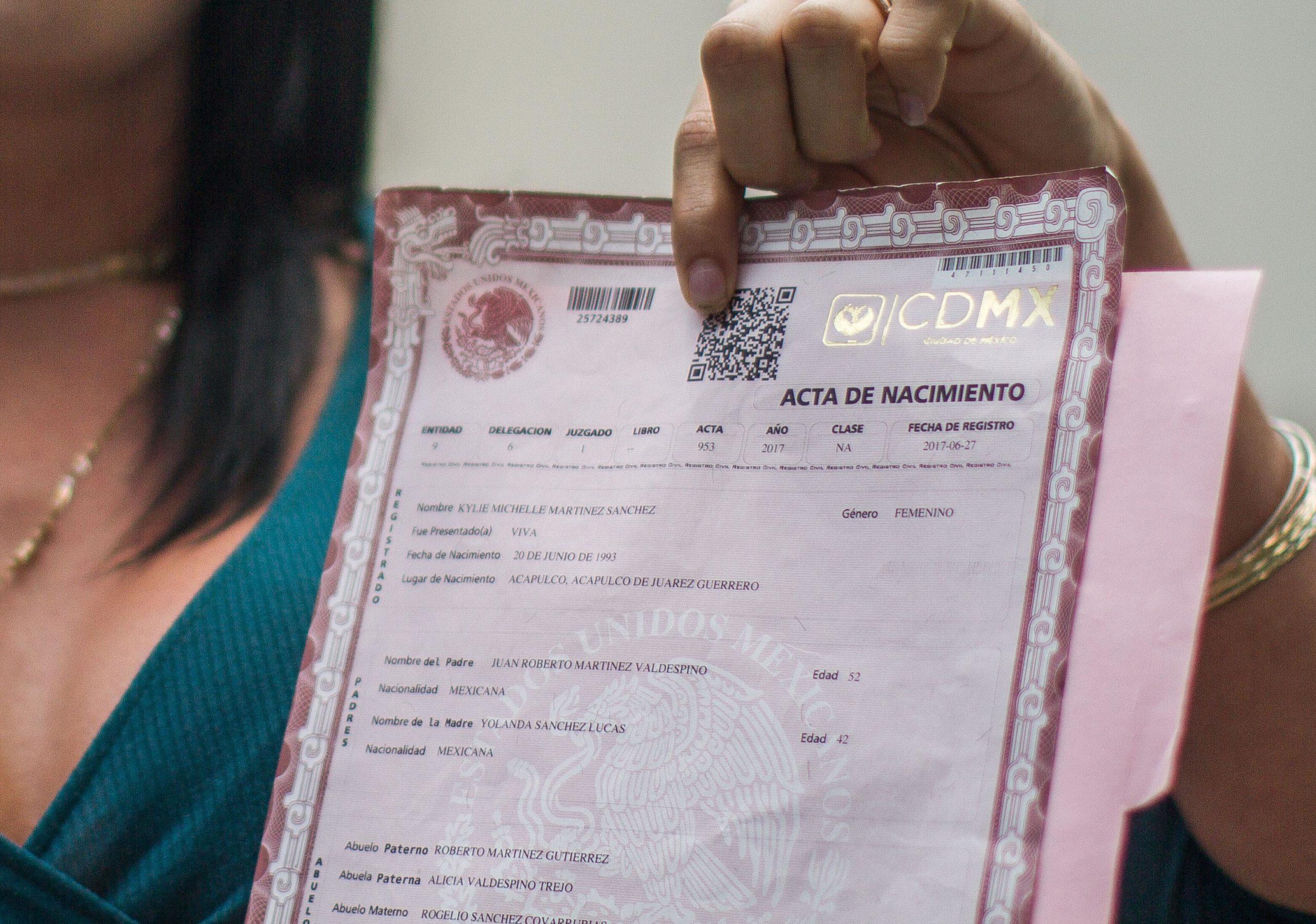 Buscan garantizar rectificación de nombre y sexo en actas de nacimiento