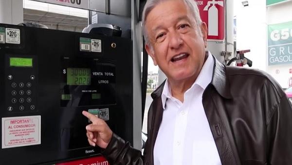 AMLO y gasolina