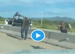 Elementos de la GN no meten ni las manos y dejan ir a presuntos miembros del crimen organizado (video)